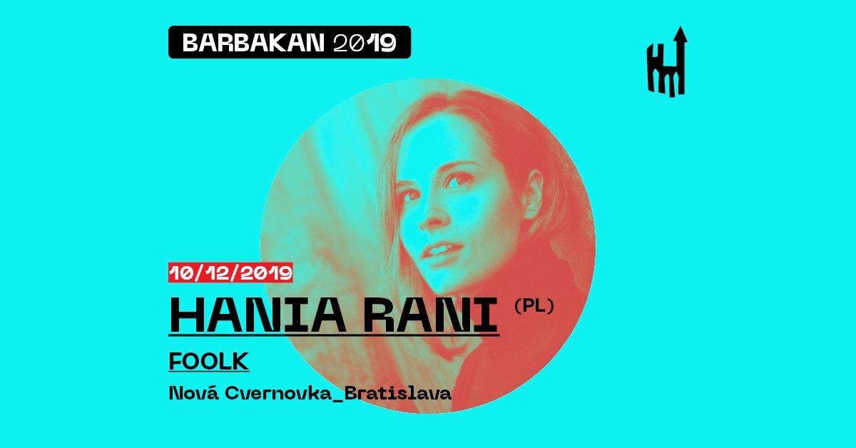 Festival Barbakan vyvrchlí 10. decembra koncertom Hanie Rani v Novej Cvernovke