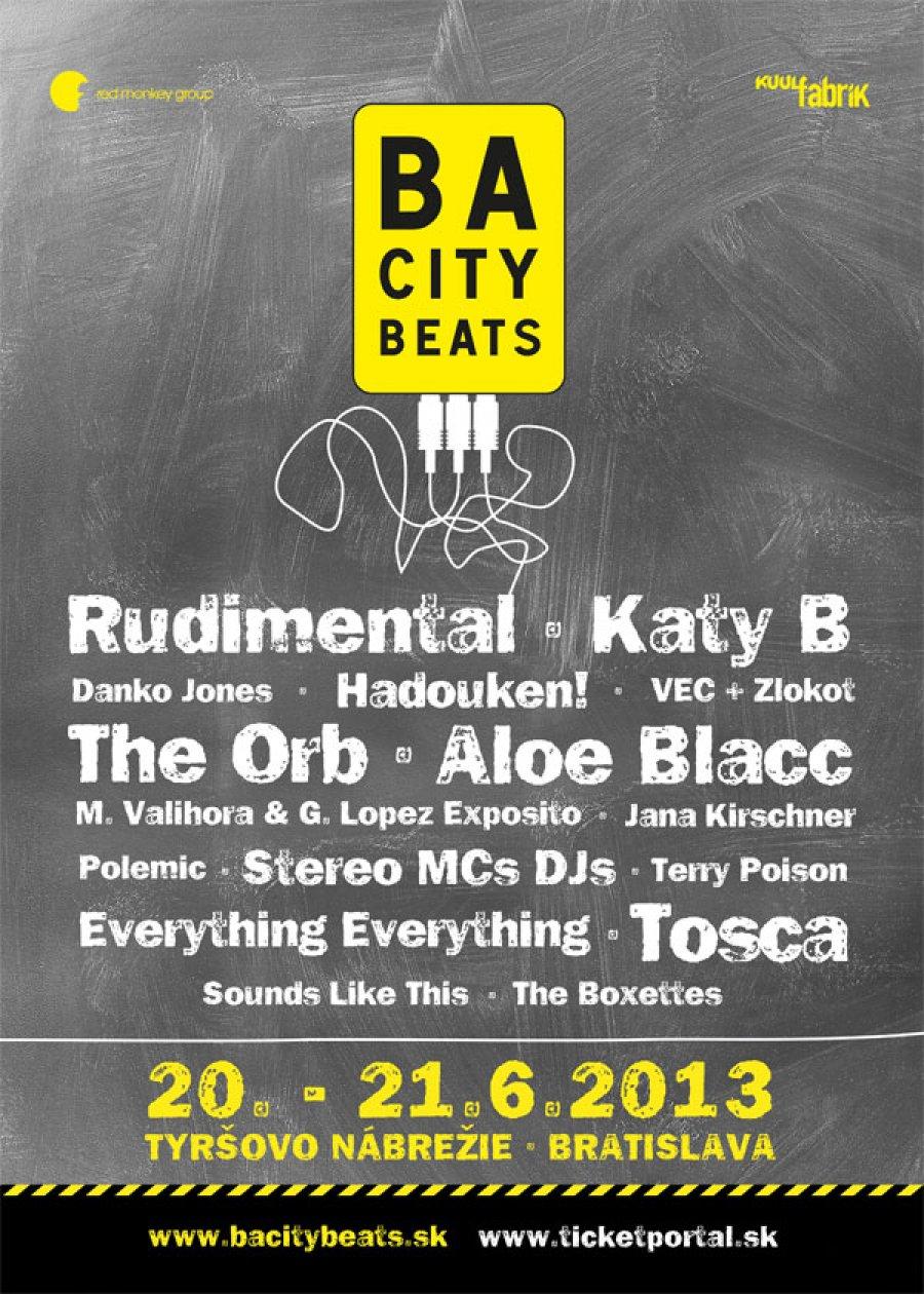 Bratislava má nový festival, BA City Beats ponúkne Katy B, Rudimental aj Aloe Blacca