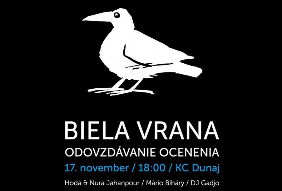 Odovzdávanie ocenenia Biela vrana aj s diskusiou a hudobným programom