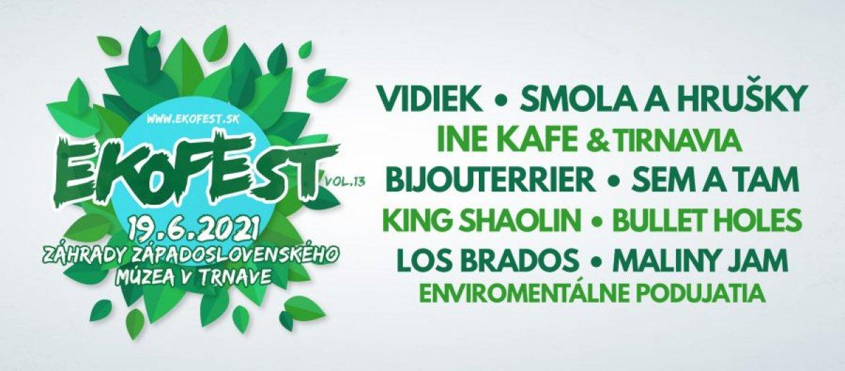 Benefičný open-air festival Ekofest v záhradach Západoslovenského múzea v Trnave