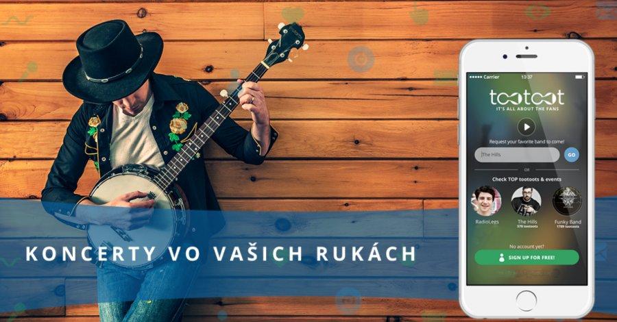 Slovenská koncertná aplikácia Tootoot získava prvé úspechy
