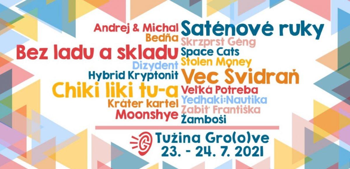 Festival Tužina Gro(o)ve otvára svoje brány v roku 2021 už šiesty krát